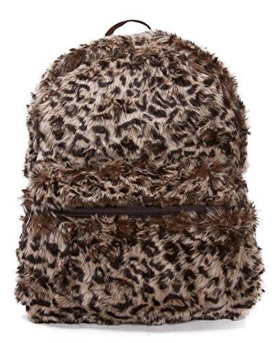 Faux Fur Animal Print Backpack - Leopard ()