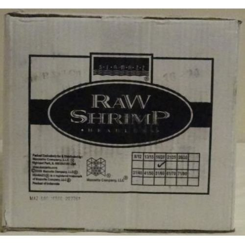 Seamazz Peeled and deveined Tail On Raw Shrimp, 2 Pound -- 10 per case. by The Mazzetta Company