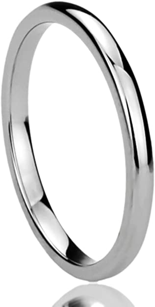 Details about  /Men Women 8MM Stainless Steel Black Shiny Polish Plain Ring Wedding Band