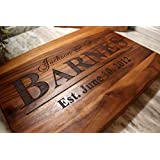 Personalized Cutting Board for Wedding or Anniversary Gifts - Perfect Wooden Serving Board for Meat or Cheese - Great Gift for Valentine's Day or for Husband or Wife Say I Love you With This Gift!
