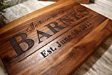 Personalized Cutting Board for Wedding: or Anniversary Gifts - Perfect Wooden Serving Board for Meat or Cheese - The Greatest Wedding Gift