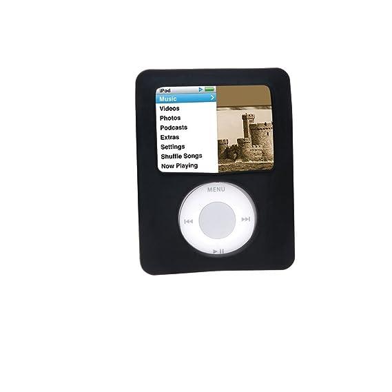 07543d11c8da6 Amazon.com: Silicone Case for iPod nano 3rd Generation, BLACK ...