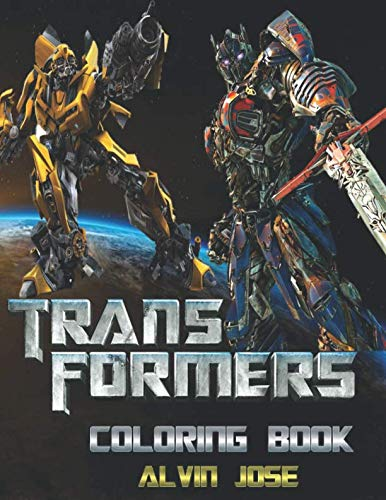 Transformers Coloring Book: For Kids and Adults -