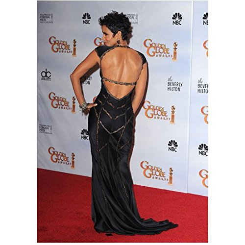 Back Movie Photo (Halle Berry 8 Inch x 10 Inch Photo X-Men movies Cloud Atlas Extant Sexy Back View Of Long Black Dress kn)
