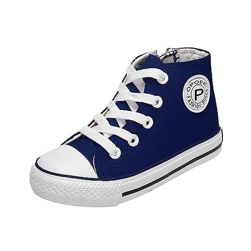 501e335ed Moda High Top Cómodos Zapatos De Ligeros para Niños Niñas Deporte Zapatos  Niños Zapatos Lona Respirables  Amazon.es  Zapatos y complementos
