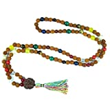 Navgraha Mala Rudraksh Beads Nine Planets Necklace Empowers Good Effects of All Planets, Yoga Gift