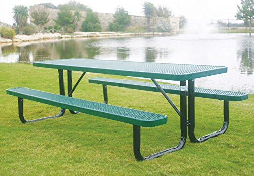 MyTCoat- 6' Rectangular Portable Table - Expanded Metal - Industry Standard Coating ()