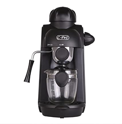 Máquina de Café Espresso Automática con Filtro Reutilizable y Función de Mantener Caliente 240 ml negro