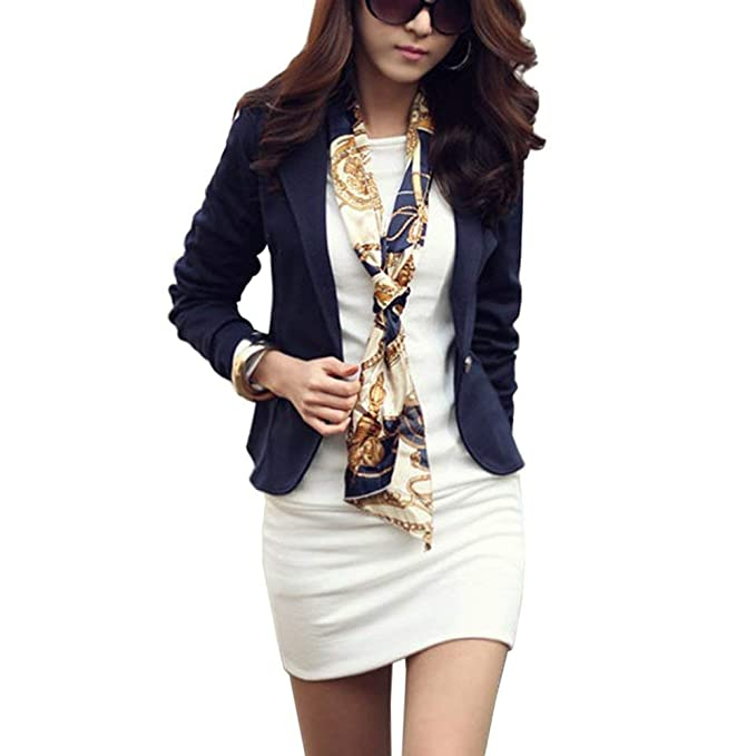 88b8093c62 Blazer Donna Moda Vintage Business Stampa Fiore Tailleur Casuale ...