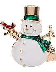 Da.Wa Lindo Broche de Moda Ramillete de Navidad Serie de Navidad Navidad Muñeco de Nieve Boda Nupcial Pin Dress Bufandas Chal Clip Lady Jewelry Beautiful Encanto Decoraciones