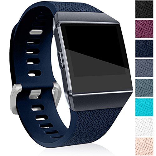 Maledan Bands for Fitbit Ionic, Navy Blue Large