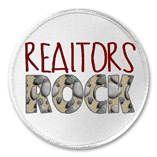 "Realtors Rock - 3"" Sew / Iron On Patch Real Estate Agent Realty"