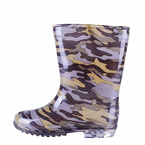Pictures of VICVIK Children Camouflage Rain Boots Kids Lightweight 5