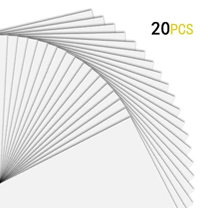 20 hojas de papel de vinilo de alta calidad blanco brillante ...