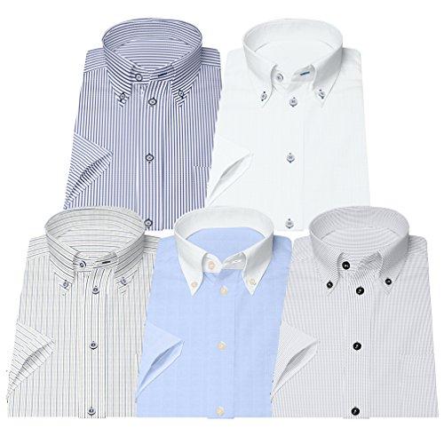 ストローク若者一回(ビジネススタイル アルフ) businessstyle alfu 半袖 ワイシャツ 5枚セット 形態安定 ビジネスYシャツ クールビズ/sa02al