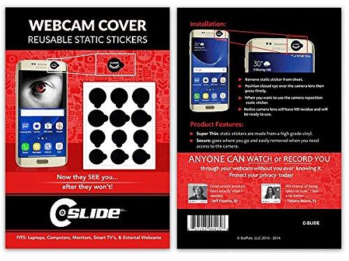 "Glossy /"" Matte 52 Vinyl Webcam//Camera Covers Removable//Reusable For TVs, Black"