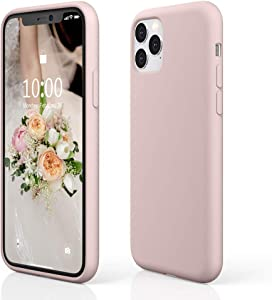 """pcgaga iPhone 11 Pro Max Silicone Case, iPhone 11 Pro Max Case, Slim Shockproof Liquid Silicone Case (with Microfiber Lining) for iPhone 11 Pro Max, 6.5"""" 2019 (Pink Sand)"""