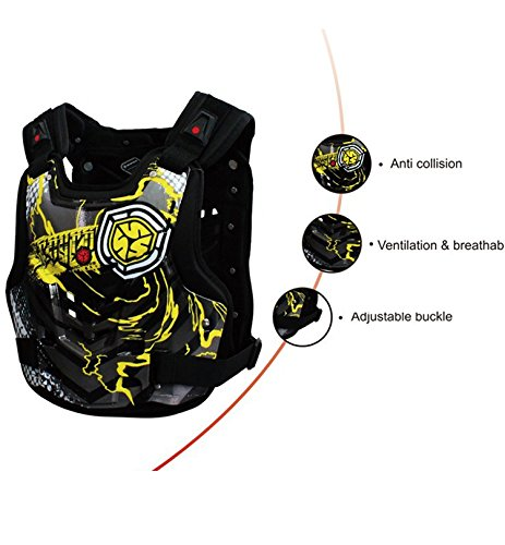 A.B Crew Motorcycle Body Armor Adult Street Bike Chest Protector Off-Road Dirt Bike Vest Protector by A.B Crew (Image #2)'