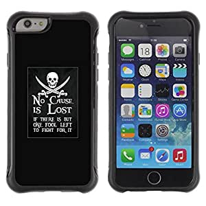 Suave TPU GEL Carcasa Funda Silicona Blando Estuche Caso de protección (para) Apple Iphone 6 / CECELL Phone case / / no cause is lost pirate ship movement /