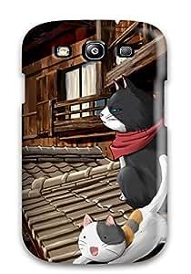 FCSfmkE10942mvPPX Anti-scratch Case Cover KarenStewart Protective Nyan Koi Case For Galaxy S3