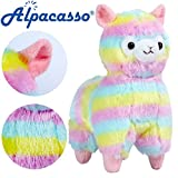 Alpacasso 6.7 Inch Rainbow Alpaca Plush, Stuffed Animals Toy for Kids