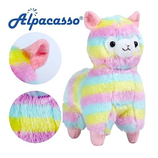 Rainbow Alpaca Plush | 6.7 Inches | Alpacasso Plushies 1