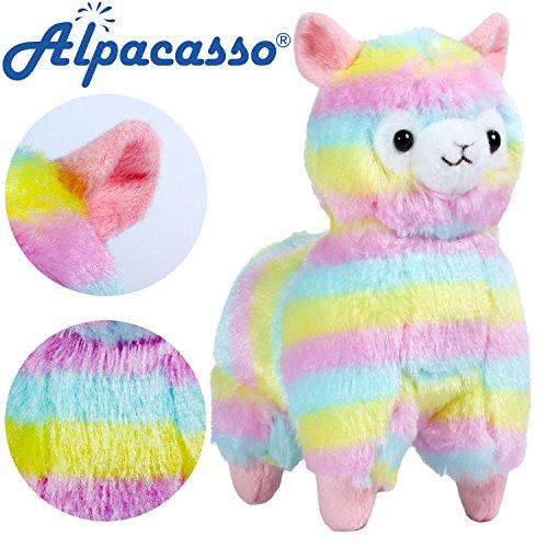 Alpacasso 6.7 Inch Rainbow Alpaca Plush, Stuffed Animals Toy for Kids