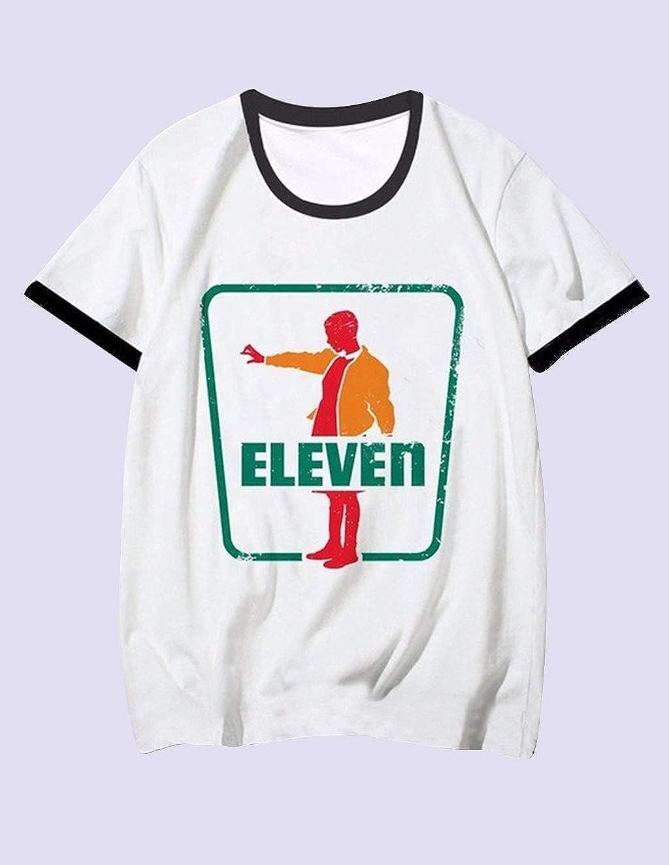 Teen Girls Fashion Ringer T Shirt Womens Cute Cartoon Print Tee Shirt 3D Print Inspired Design Summer Top Casual Loose Shirt Tee T-Shirt Blouse Sales Stranger Things T Shirt Season 3