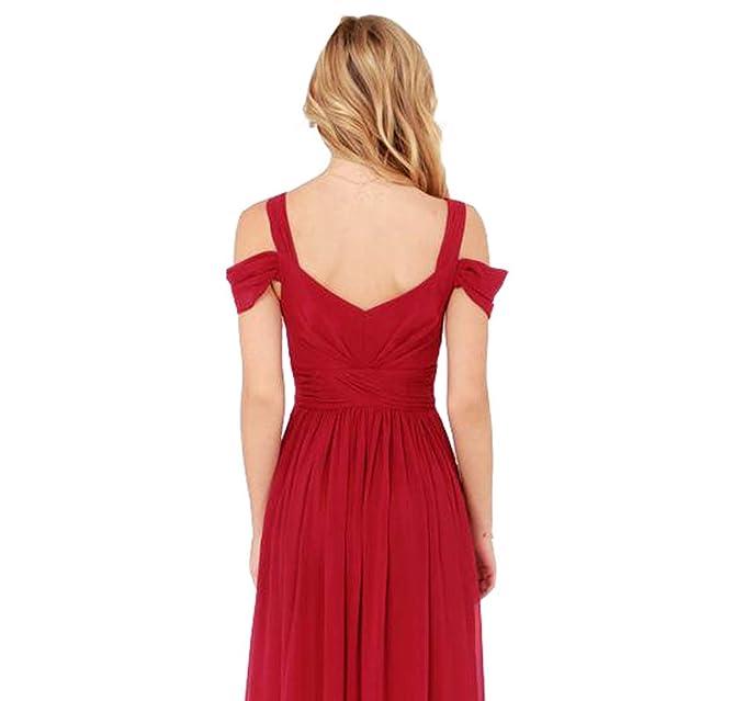 Amazon.com: Chfashion Womens Chiffon Maxi Sleeveless Cocktail Long Gown Dress: Clothing