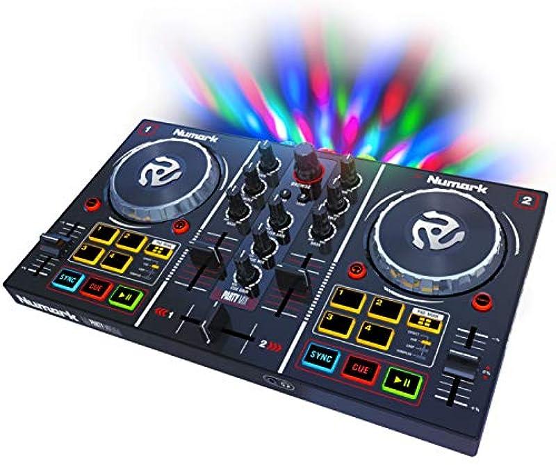 Numark Serato DJ Lite대응2채널・플러그&플레이DJ콘트롤러:오디오 인터페이스・헤드폰 queuing・콘트롤 패드・크로스 회《―다》・죠《구호이루》・파티 라이트 탑재 Party Mix