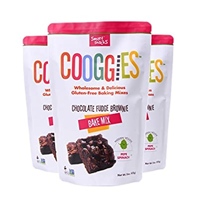 Cooggies Gluten Free Baking Mix, Chocolate Fudge Brownie, Grain Free, 45 Ounce (Pack of 3)