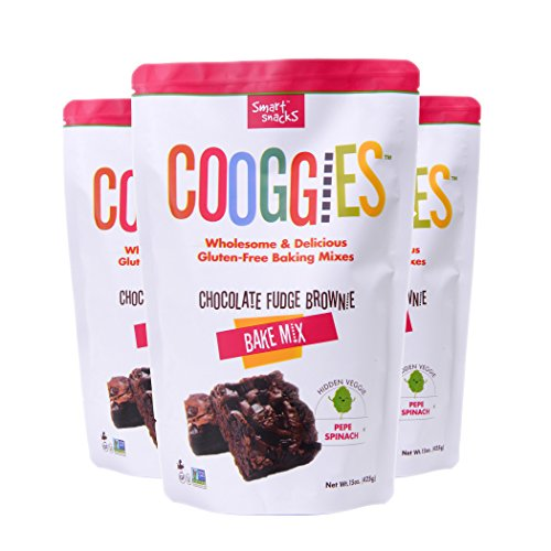 Cooggies Gluten Free Baking Mix, Chocolate Fudge Brownie, Grain Free, 45 Ounce (Pack of 3) by Cooggies