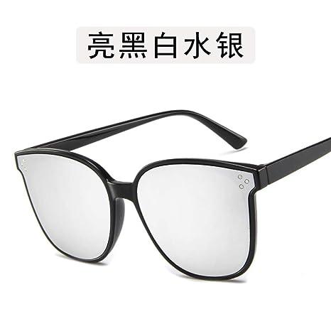 Yangjing-hl Gafas de Sol de Metal metálico con Personalidad ...