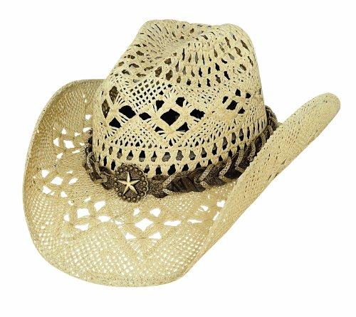Montecarlo Bullhide Hats NAUGHTY GIRL Toyo Straw Western Cowboy Hat (Medium) - Straw Toyo Western Hat