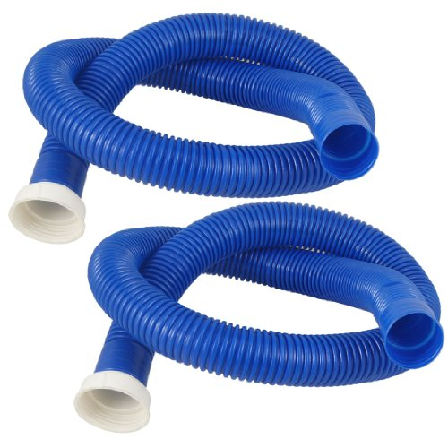 uxcell Washing Machine Dishwasher Drain Hose Extension 39 Inch Long 2Pcs Blue