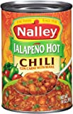 Nalley Jalapeno Hot Chili Con Carne with Beans (Pack of 4)