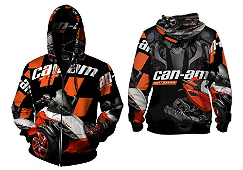 Can Am Spyder Graphic Print Sublimation Man Top T-shirt sizes: S to 3XL (Zipper G2, XX-Large) Sublimation Graphic Tee