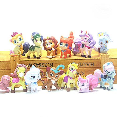 [DASARA New Palace Pets Deluxe Set of 12 Mini Figures featuring Puppies, Kittens Etc] (4 Star Dragonball Costume Color)
