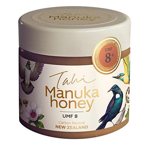 Manuka Honey (Miel Manuka) New Zealand Active UMF 8+ eco-friendly, raw and pure manuka honey 400gram (14.1oz) by Tahi