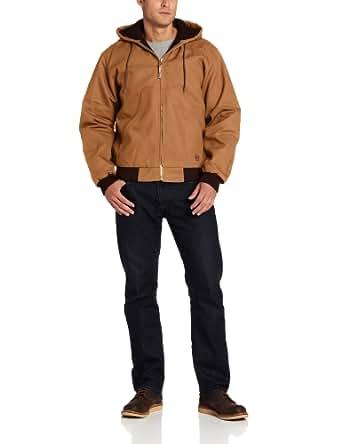 Berne Men's Big-Tall Original Hooded Jacket, Brown, 5X-Large/Regular