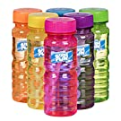 BubblePlay Bubble Blower Bottles with 5-Hole Bubble Wand: 4 OZ Bottles of Bubble Solution with Wands for Kids - Outdoor Summer Fun, Birthday Party Favors (6 Pack)