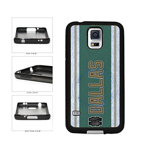 (BleuReign(TM) Hockey Team Hashtag Dallas #Dallas TPU RUBBER SILICONE Phone Case Back Cover For Samsung Galaxy S5)
