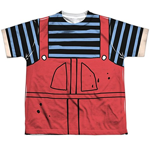 Dennis And Gnasher Costume (Youth: Dennis The Menace- Dennis Costume Tee Kids T-Shirt Size YS)
