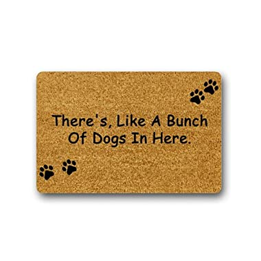 There's, Like a Bunch of Dogs in Here Funny Design Indoor/Outdoor Decor Rug Doormat 23.6(L)X15.7(W) inch Non-Slip Machine-washable Home Decor