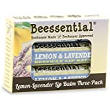 Beessential Lemon Lavender Lip Balm (3 Pack)