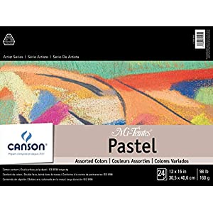 Mi-Teintes Pastel Pad, Assorted Colors 12″X16″ Fold Over