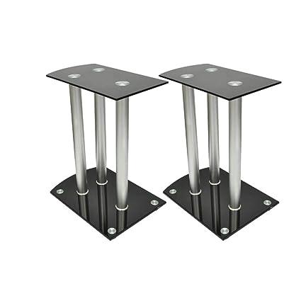b77105fdcd4c6 Amazon.com: SKB family Aluminum Speaker Stands 2 pcs Black Glass ...
