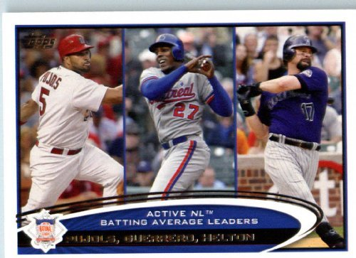 - 2012 Topps Baseball Card #124 Albert Pujols/Vladimir Guerrero/Todd Helton LDR (Active League Leaders) MLB Trading Card