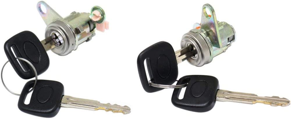 Door Lock Cylinder Set Compatible with 96-2001 Toyota RAV-4 Left and Right Side