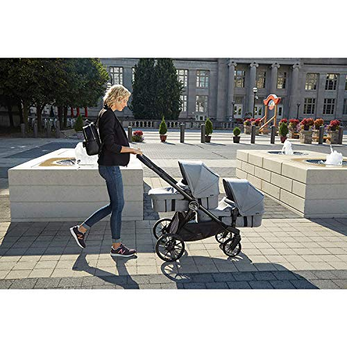 51HGrf9AvHL - Baby Jogger City Select LUX Stroller | Baby Stroller With 20 Ways To Ride, Goes From Single To Double Stroller | Quick Fold Stroller, Slate